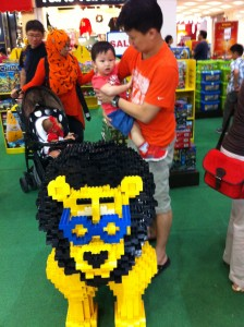 Gar and Lego Lion