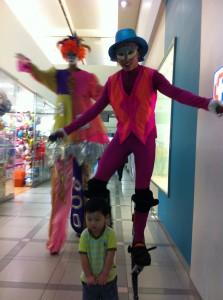 acrobats on stilts