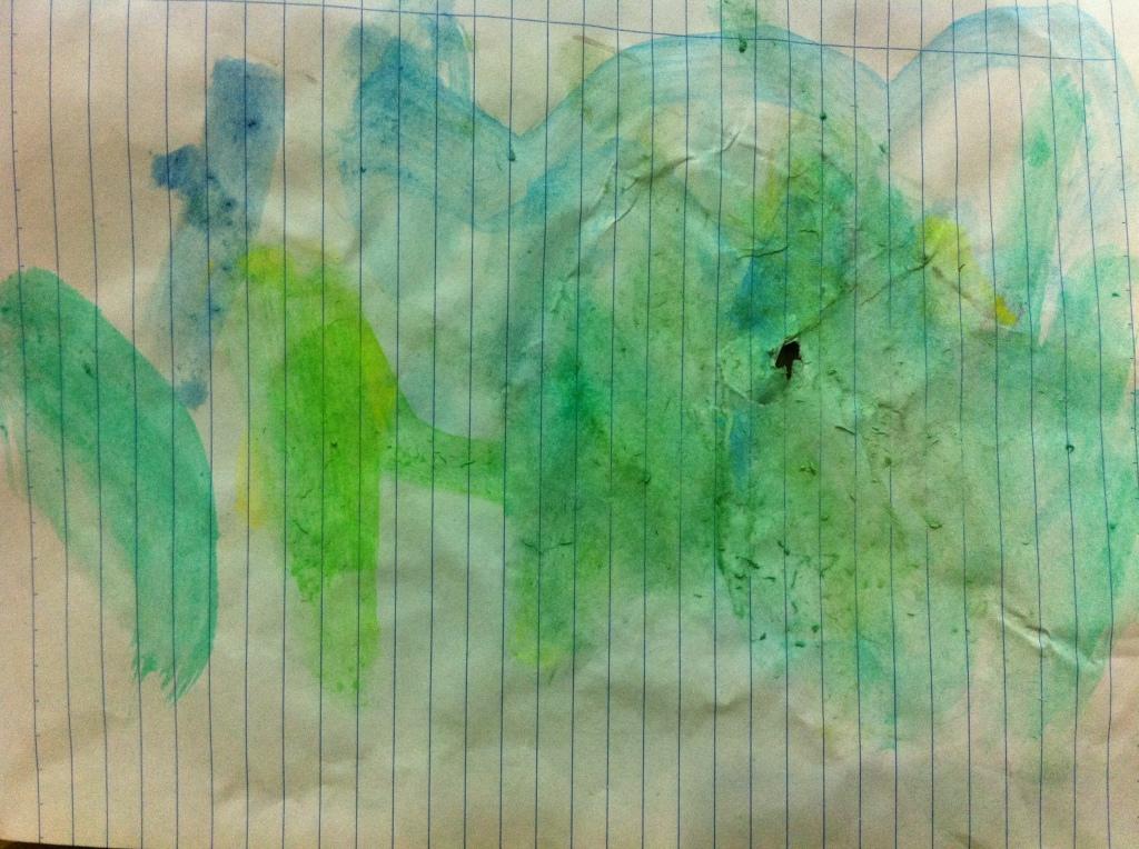 green field abstract art
