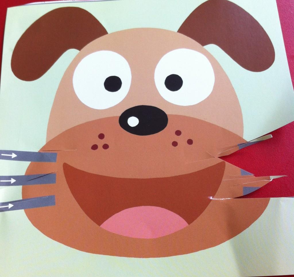 cut paper dog