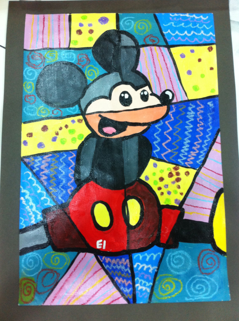 mickey mouse el vintage painting