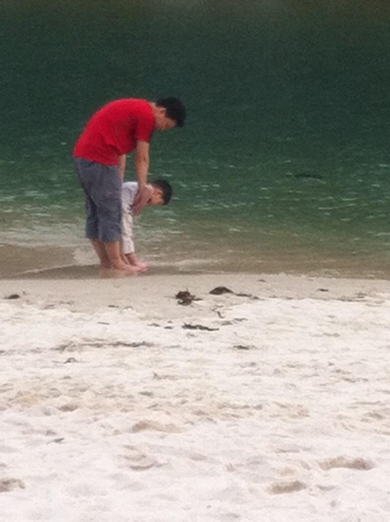 gar and daddy soaking their feet