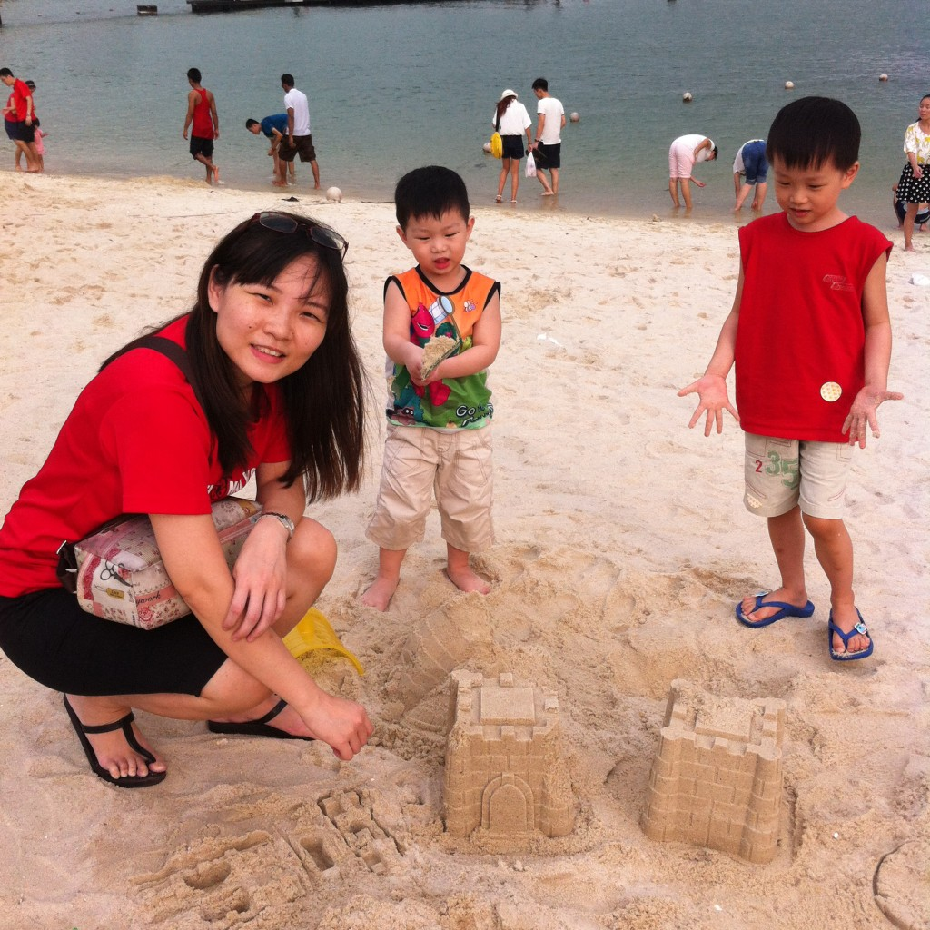 our sandcastles at siloso beach